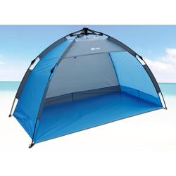 EXPLORER Strandmuschel Automatik-Strandmuschel blau Sonnenschutz Insektenschutz Camping Schlafen Outdoor