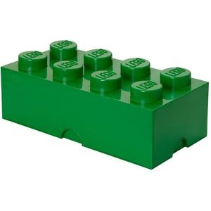 LEGO Storage Brick 8 Knöpfe, stapelbar Aufbewahrungsbox, 12 l, Plastik, dunkelgrün, Large