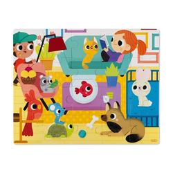 Janod Puzzle Haptik-Puzzle Haustiere 20 Teile, 20 Puzzleteile