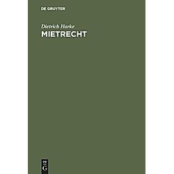 Mietrecht. Dietrich Harke  - Buch