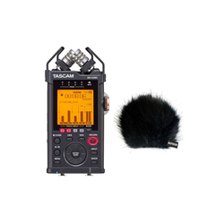 Tascam Tascam DR-44WLB Audio Recorder + Windschutz Digitales Aufnahmegerät