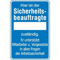 SafetyMarking 11.0728 Aushang Sicherheitsbeauftragte Aluminium (B x H) 200mm x 300mm 1St.
