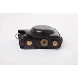 vhbw Kameratasche Bag Aufbewahrung schwarz inkl. Gurt passend für Kamera Fotoapparat Canon PowerShot G9x.
