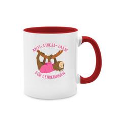 Shirtracer Tasse Anti Stress Tasse für Lehrerinnen Faultier - Tasse zweifarbig
