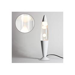 Licht-Erlebnisse Lavalampe TIMMY Retro Lampe Weiß Retro Lampe Lampe