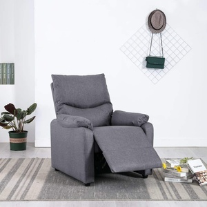Goliraya Massagesessel Relaxsessel Senior Fernsehsessel Ruhe TV Sessel mit verstellbare Rückenlehne und Fußteil Hellgrau