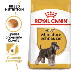 ROYAL CANIN Miniature Schnauzer Adult Hundefutter trocken für Zwergschnauzer 15 kg (2 x 7.5 kg)
