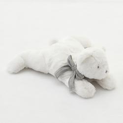 Plüsch Nanan Puff Grauer Schal 40 cm