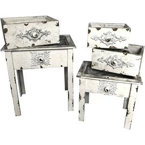 OF Tische & Schubläden zum Bepflanzen - Blumentopf, Blumenständer, Blumenregal - Shabby Used Look