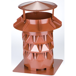 Kaminaufsatz NW300, Windkat, Kupfer, f. Kamine 27 x 27 cm bzw. 30 cm