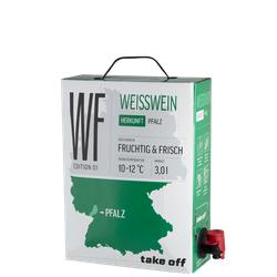 Take off Cuvée Weiß Bag-in-Box - 3,0 L - 2019 - MEJS - Die Weinspezialisten - Deutscher Weißwein