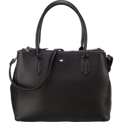 Handtasche Roma Shopper, Zip Shopper M Black Handtasche schwarz one size