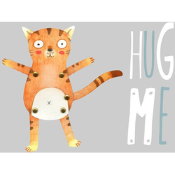 Wall-Art Wandtattoo Teddy Tiger Katze Hug me (1 Stück) 60 cm x 46 cm x 0,1 cm
