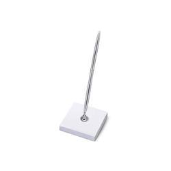 partydeco Kugelschreiber, Stiftehalter Papier mit Kugelschreiber weiß / silber