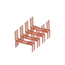 BigDean Wandhalter Blumenkastenhalter Standard H−Form Kasten Halter Balkonkastenhalter, 4-St. braun