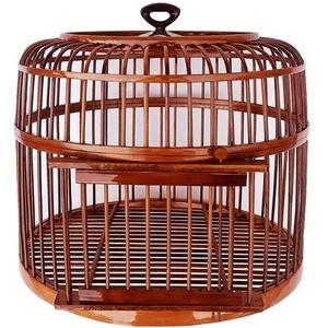 NYKK Vogelvoliere/Käfige Vogelkäfig Handmade Indoor und Outdoor Zier Vogelkäfig Heimtierbedarf Durchmesser 39 cm vogelbauer/Papageienkäfig (Color : Brown)