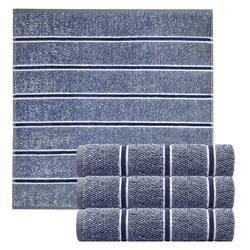 Lashuma Handtuch Set Checks (4-tlg), Küchentücher Frottee, Geschirrtücher 50x50 cm blau