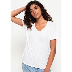 Superdry V-Shirt BURNOUT VEE TEE in Burnout-Optik weiß 8 (36/XS)