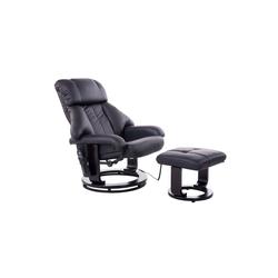 HOMCOM Massagesessel TV Sessel und Hocker mit Massage- und Heizfunktion schwarz