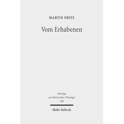 Vom Erhabenen als Buch von Martin Fritz