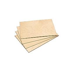 Holzplatten  DIN A4  4er-Set