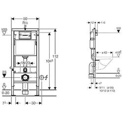 GEBERIT Vorwandelement WC DUOFIX BASIC, 1 St.