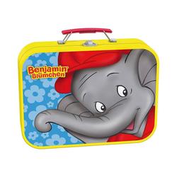 Schmidt Spiele Puzzle-Tasche Metall Puzzlekoffer, 2x26, 2x48 Teile, Benjamin