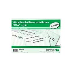 Wiederbeschreibbare Karteikarten DIN A6 - grün - Buch