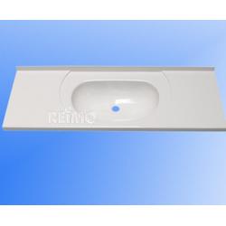 Einbauwaschbecken 89,5x31,5 cm aus ABS Weiss