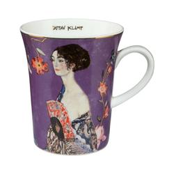 Goebel Becher Dame mit Fächer Gustav Klimt