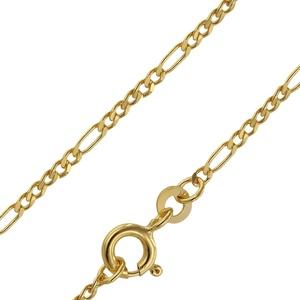 trendor 71811 Goldkette 333 Gold für Damen und Herren Figaro Diamantiert, 42 cm