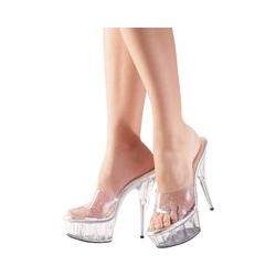 High-Heel Pantolette mit Glitzereffekt