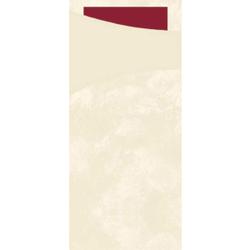 DUNI Sacchetto Serviettentaschen, Tissue, Praktische Bestecktasche, 1 Karton = 5 x 100 Stück, Farbe: champagne