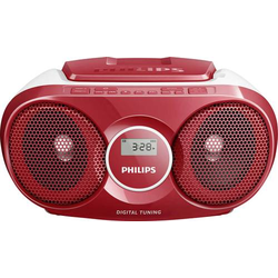 Philips AZ215R CD-Radio UKW CD Rot
