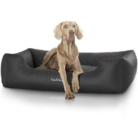 Knuffelwuff orthopädisches Hundebett Madison 75 x 105 cm schwarz