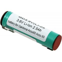 Powery Akku für Gardena Rasenkantenschere 8808 Li-Ion, 3,6V, Li-Ion