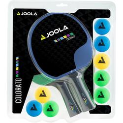 Joola Tischtennisschläger Tischtennisschlägerset-Colorato (Set, 10-tlg) bunt