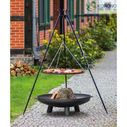 Grillset 1: Schwenkgrill - incl. Grillrost und Feuerschale (Größe Grillrost & Feuerschale: Ø 70cm Grillrost / 80cm Feuerschale)