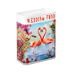 LOGOSHIRT Spardose mit Flamingo-Motiv bunt