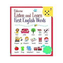 Usborne Listen and Learn First English Words  w. Sound Panel. Sam Taplin  - Buch