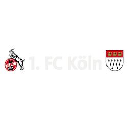 Fenstersticker Heckscheibenaufkleber, 1. FC Köln