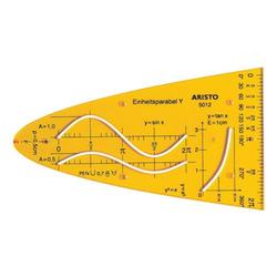 Zeichenschablone »Einheitsparabel AR 5012« orange, Aristo, 1.6 cm