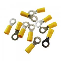 10 Stk Ringkabelschuhe Quetschkabelschuhe Ringösen 5mm gelb MSZ 4-6mm2 MSZ-6/5