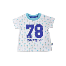 BLUE SEVEN Boys T-Shirt Palmen Cyan
