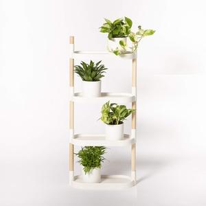 Citysens – Blumenregal mit 4 Regalböden, Weiß