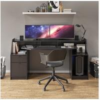 Vicco Schreibtisch Computertisch Bürotisch Home Joel Schwarz Arbeitstisch Tisch