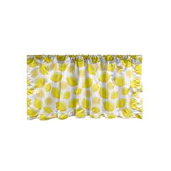 Scheibengardine Vorhang Volant für Küche Schlafzimmer Dekor mit Stangentasche, Abakuhaus, Zitronen Köstliche Zitrusfrüchte Kunst 137 cm x 45 cm