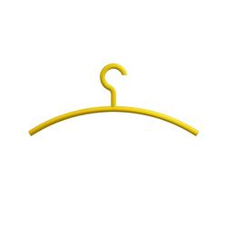 Haken 570.1 Kleiderbügel feststehend senfgelb Länge 190,0 mm Höhe 15,0 mm HEWI