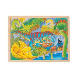 goki Puzzle Einlegepuzzle 48 Teile Dinosaurier, Puzzleteile
