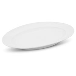 Walküre Porzellan Tortenplatte Platte oval, 34cm Buffet Weiß Walküre Porzellan